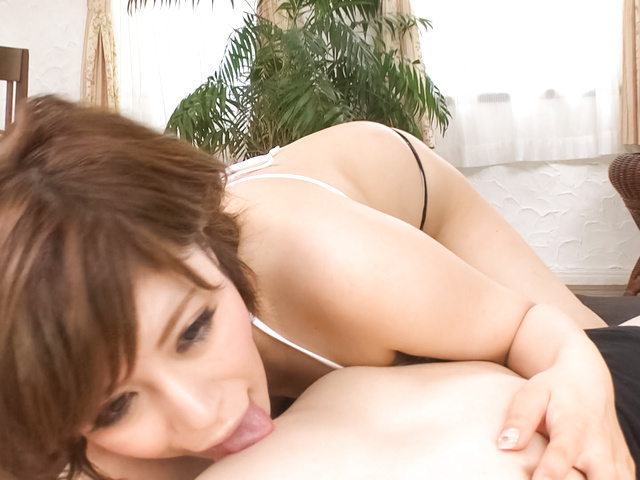 Mei haruka enjoys two men for a wild threesome fuck 1
