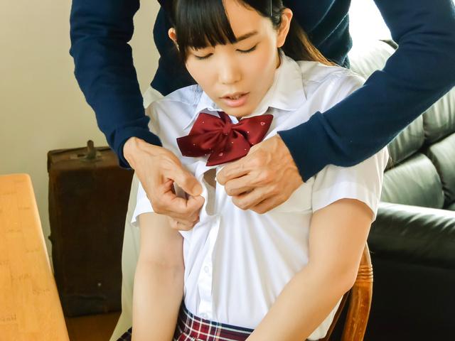 春日野結衣 - パイパン女子校生ハードコア 春日野結衣 - Picture 1