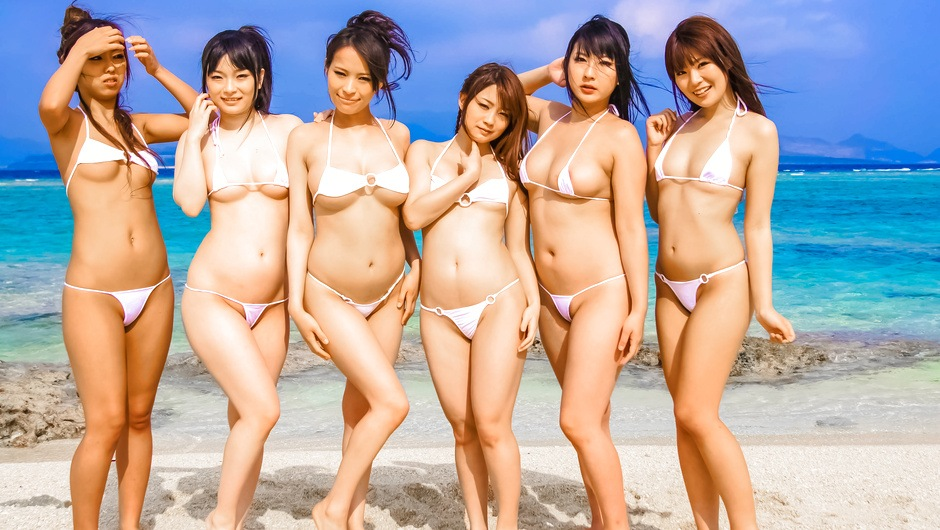 Hina Maeda, Kyouko Maki and Yui Nanase All Out Beach Orgy