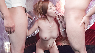 Japanese blowjob ends with cum in mouth forEri Inoue