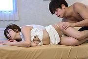 Risa Mizuki - Sexy wife, Japanese blowjobs in sloppy scenes  - Picture 2