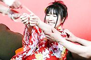 Chiharu - Chiharu gives a japan blowjob and is fucked in her kimono - Picture 8