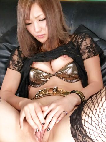 Aika - 光井爱佳爱以亚洲 creampies 与她的长筒袜 - 图片 4