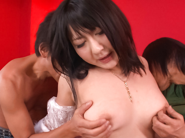 Megumi Haruka - Megumi Haruka gives asian blow jobs and fucks in white stockings - Picture 2