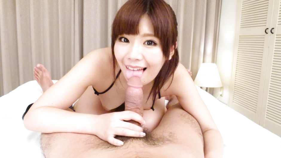 Nanaka Kyono gives japanese blowjobs in our POV