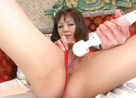 Hikaru Aoyama Asian screams when she comes from vibrator on cunt