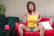 Ren Mizumori - Ren Mizumori with big and bouncing boobies teasing and playing with dildo - Picture 4