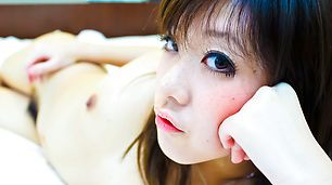 Mao Miyazaki rides cock nicely and covered with cream