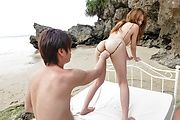 Nami Itoshino - Japane blowjob in outdoor along Nami Itoshino  - Picture 1