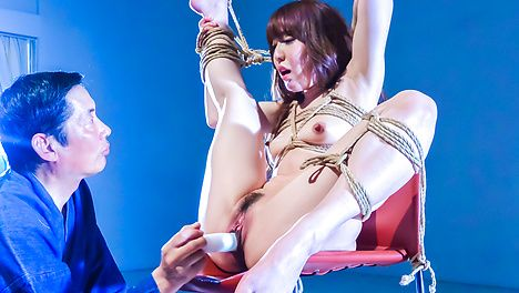 Japanese rope bondage along superb Rina Uchimura