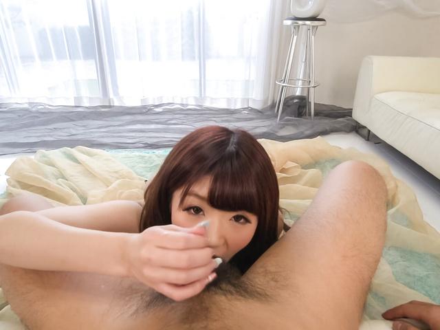 Maya Kawamura - 在与玛雅 Kawamura POV 日本口交 - 图片 5