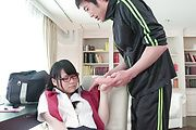 Rara Unno - Rara Unno superb Asian blowjob in classroom  - Picture 12