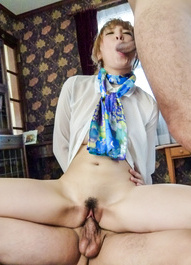 Hikaru Shiina licks two tools at once and has crack fingered