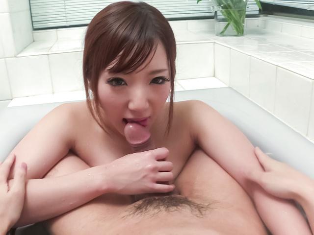Riko Satsuki - 咲月りこ~ご奉仕強制口内発射~ - Picture 9