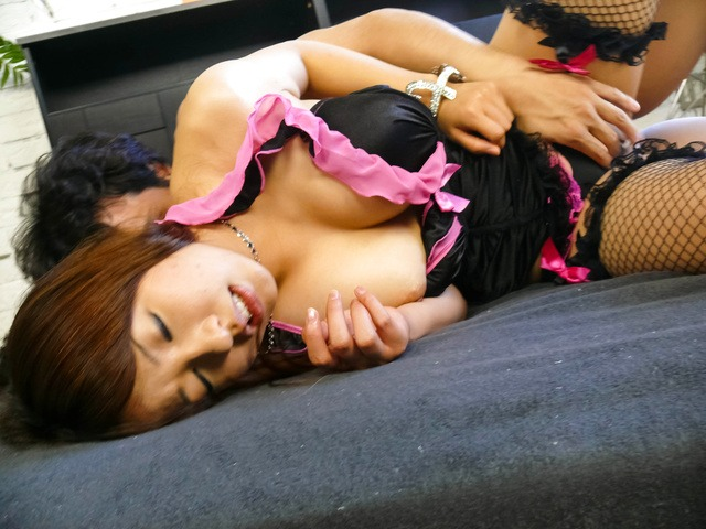 Megu Kamijo - A japanese cum shot after being fucked by two guys - Picture 2