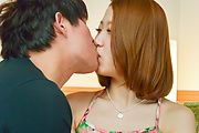 Miku Kirino - Asian amateur oral with young Miku Kirino  - Picture 1