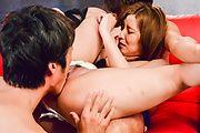 Saya Fujiwara - 小夜藤原爱他妈的期间日本三人行 - 图片 8