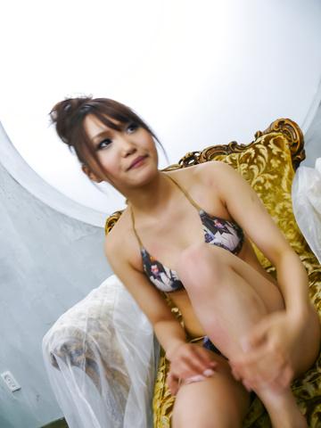 Miyu - Japanese girl Miyu enjoys sucking cocks after getting off - Picture 1