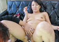 Saya Fujimoto Asian with nasty tits has pussy shaved by fellow