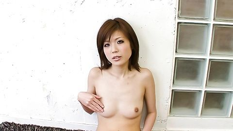 Amateur with hot body Mari Sasaki tastes her pussy during petting play