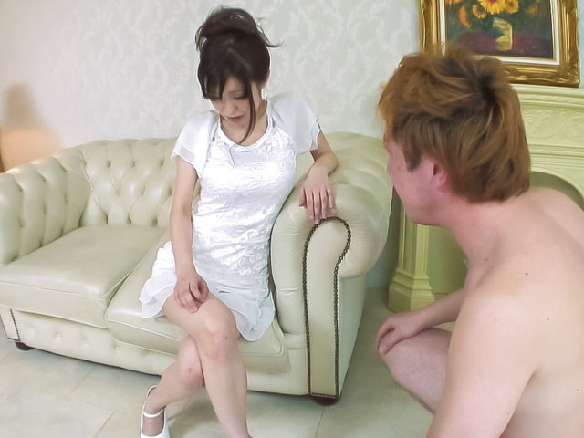 Miina Kanno - Hot milf fucks younger stud during homemade experience  - Picture 1