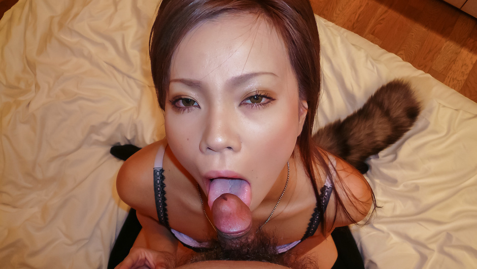 Phim Sex Sakiko provides Asian blowjob during nasty solo