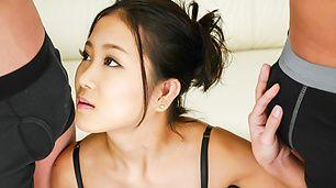 Asian blow job along lusty Japanese Kyoka Sono [JavHD Free Online]