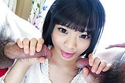 Moka Minaduki - 激カワ皆月もか~Wフェラ舌上射精 - Picture 10