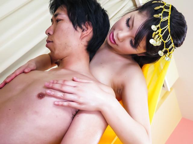 Mei Ashikawa - Warm Japanese blowjob by steamy milfMei Ashikawa - Picture 3