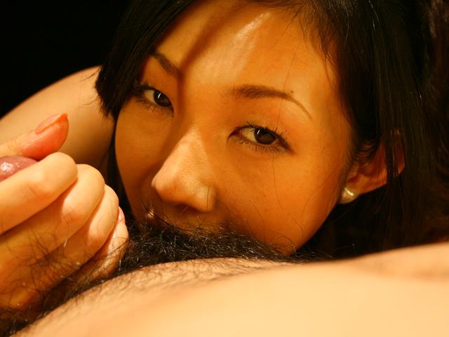 Yui Komine - Yui Komine sucks a nylon-wrapped and stiff dick - Picture 9