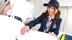 18 Year Old Miku Airi Sucks Dick in Schoolgirl Uniform