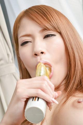 Nami Itoshino - Asian huge dildo to please naughty Nami Itoshino  - Picture 10