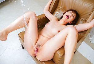 Japanese dildo gets Tomoka Sakurai wild and lusty