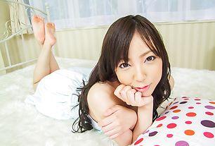 Ayane Okura receives huge cock in her puffy hairy twat
