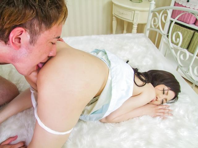 Ayane Okura - Ayane Okura receives huge cock in her puffy hairy twat - Picture 11