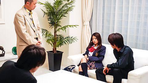 Satomi Suzuki Masturbates And Sucks Him Off