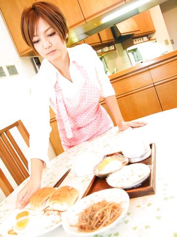 Meguru Kosaka - Meguru Kosaka Uses Her Big MILF Tits To Get Him Off - Picture 2