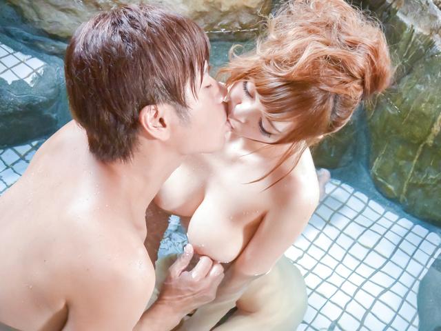Mikuru Shiina - Big titsMikuru Shiinaprovides superb Asian blowjob - Picture 3
