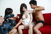 Karen Natsuhara - 女子アナグループファック中出しレポート - Picture 12