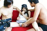 Karen Natsuhara - 女子アナグループファック中出しレポート - Picture 9