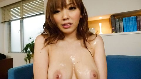 Megu Kamijo gets asian cumshots on her big boobs