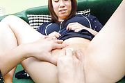 Sakura Ooba - Sakura Ooba gives an asian blow job to two after masturbating - Picture 9
