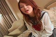 Ran - Young Asian pussy fucking along steamy Ran - Picture 8