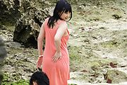 Megumi Haruka - Megumi Haruka asian girl giving blowjob and fucking outdoors - Picture 1