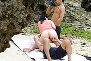 Megumi Haruka - Megumi Haruka asian girl giving blowjob and fucking outdoors - Picture 6