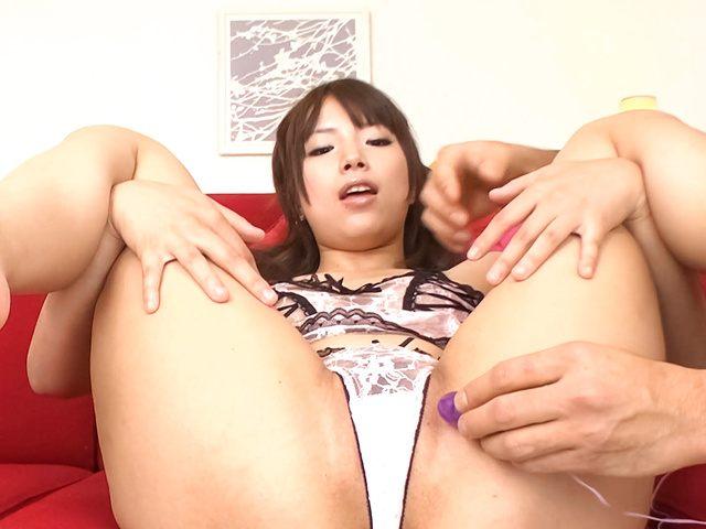 Hinata Tachibana - japanese cum party with Hinata Tachibana eating jizz - Picture 5