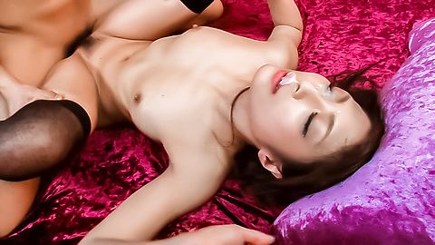 Sexy Aoi Miyama enjoys rough Asian bukkake