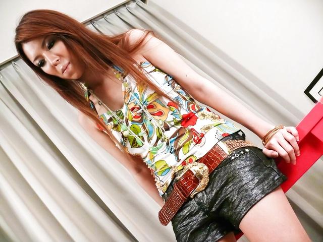 Rino Asuka - Asukarino gives a self pleasuring show as a foreplay - Picture 1