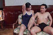 Yui Kasugano - ツルペタスク水女子校生~精子強制発射 - Picture 7
