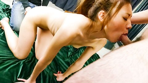 Mio Kuraki in a japan blowjob and toy fucking video